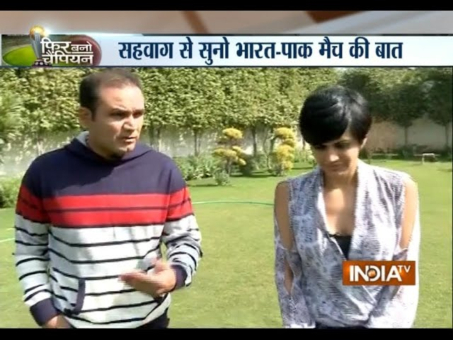 Phir Bano Champion: Mandira Bedi and Virender Sehwag on Indo-Pak Match