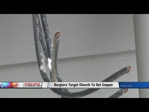 Burglars Target Church To Get Copper