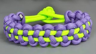 How to make a Stitched Solomon Bar paracord bracelet