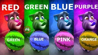 Learn Colors with My Talking Tom Colours for Kids Animation Education Cartoon Compilation P1N