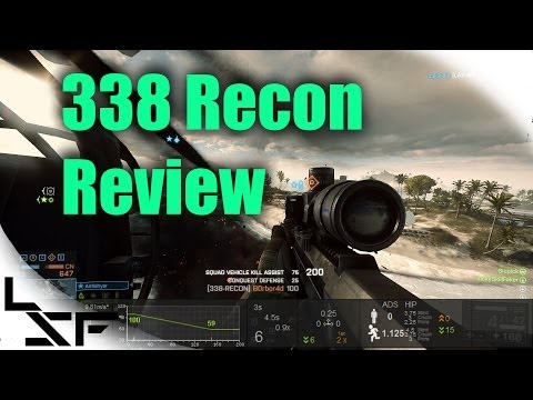BF4 338 Recon Weapon Review | Battlefield 4 Sniper Gun Guide (Sniping Gameplay)