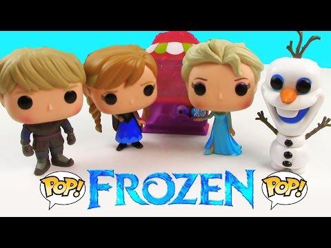 Disney Frozen POP Vinyl Queen Elsa Princess Anna Kristoff Sven Olaf Snowman Unboxing