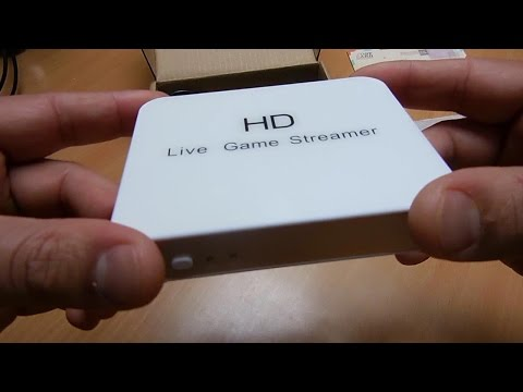 HD Live game capture streamer box. how to. unboxing. review