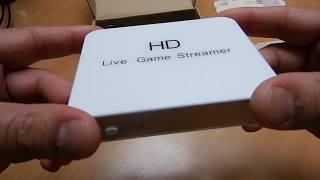HD Live game capture streamer box, how to, unboxing, review
