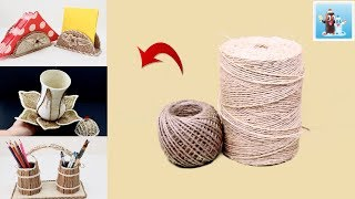 6 Awesome Ideas from Jute Art and Craft Handcraft