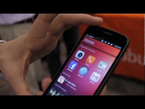 Ubuntu Phone OS Demonstration by Mark Shuttleworth at CES 2013