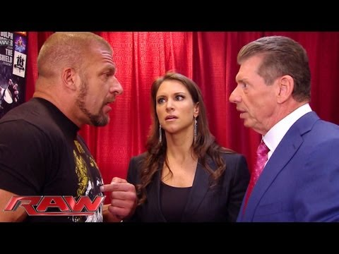 Raw - Triple H can't convince Stephanie and Mr. McMahon to let him compete: Raw, June 3, 2013