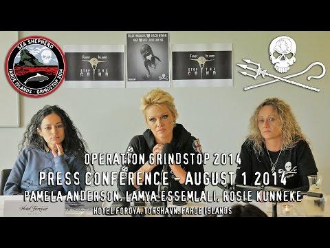 Pamela Anderson Press Conference for Operation Grindstop