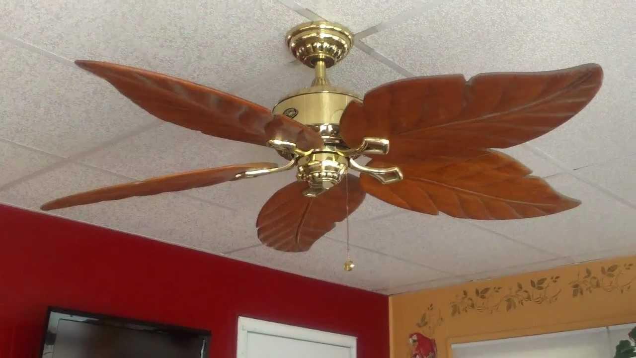 52 Quot Hampton Bay Antiqua Ceiling Fan Youtube
