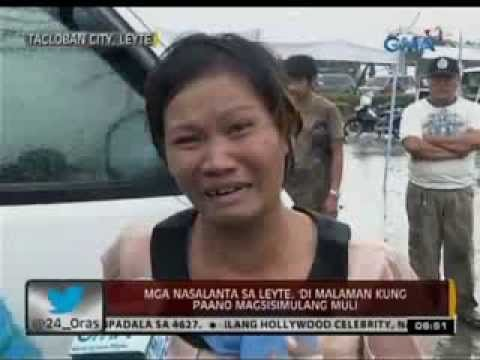 Typhoon Yolanda haiyan Survivors In Eastern Samar And Leyte video