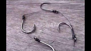 How To Tie Gang Hooks Catfish Rig(129)DIY Fishing - Cách Buộc 4 Lưỡi Câu Cá Trê