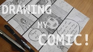 DRAWING A PAGE OF MY MANGA COMIC! (How I Draw a Page)