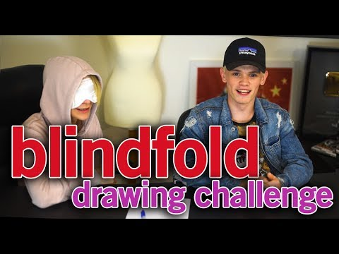 download lagu Blindfold Drawing Challenge  Bars Vs Melody gratis