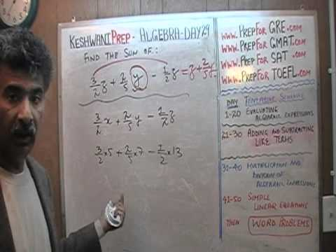 Algebra Help Day 29 - Math Tutor - GRE, GMAT, SAT Prep - Online via Skype KeshwaniPrep.com