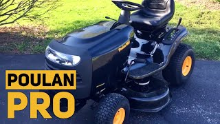 "Poulan Pro 960420183 Briggs and Stratton 15.5 hp Pedal Control Automatic Drive 42"" Riding Mower"