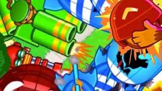 THIS IS CRAZY! - Bloons TD Battles - NEW BTD Battles Club Arena! Sniper, Gatling & Mortar?!