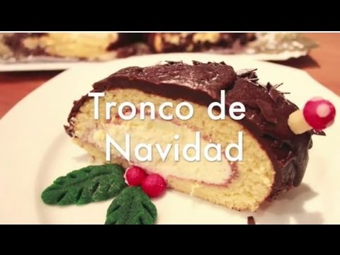 Tronco de Navidad de Chocolate - Recetas de Postres