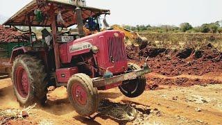 #Mahindratractor| Mahindra 575 DI tractor full loaded trolley|#Comefromvillage