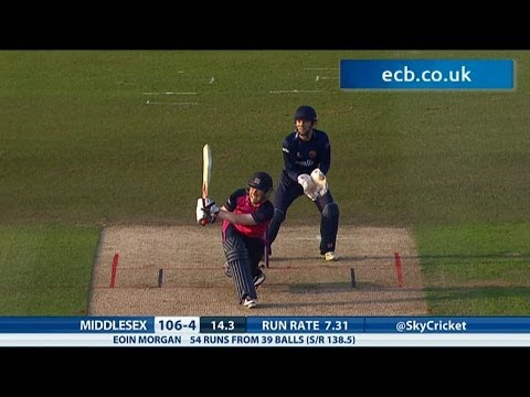 Eoin Morgan cracks 69 from 46 balls - Essex Eagles v Middlesex Panthers