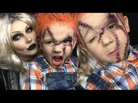 chucky halloween makeup for kids (pt 2)