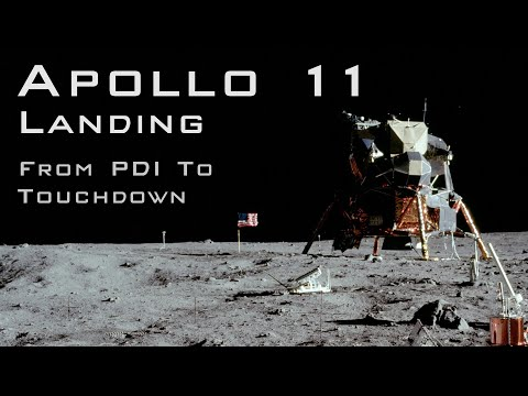 Apollo 11 landing from PDI to Touchdown