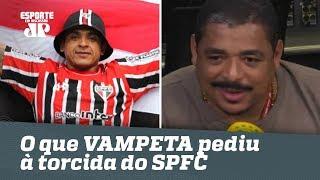 Líder, e... ? OLHA o que Vampeta pediu à torcida do SÃO PAULO!