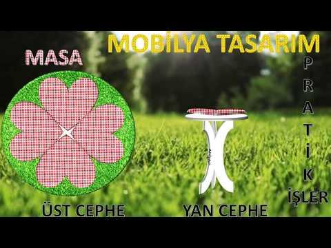 YAZLIK BAHÇE MOBİLYALARI TASARIMLARIM SANDALYE MASA ( FASHION AND DESIGN )