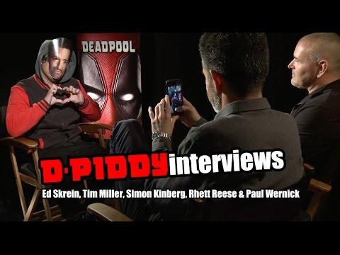 D-Piddy Interviews Ed Skrein, Tim Miller, Simon Kinberg, Rhett Reese & Paul Wernick | Deadpool Movie
