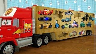 Kids  Cartoon -Wooden Mack Truck Radio Lightning McQueen