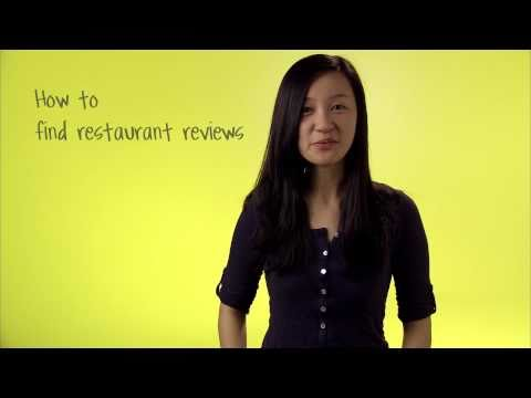 How to find restaurant reviews