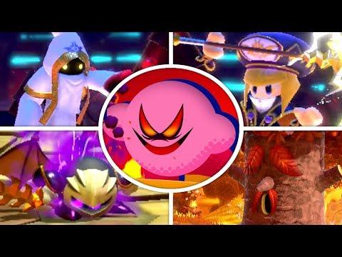 Kirby Star Allies - All Bosses + Secret Final Boss (Soul Melter Difficulty)