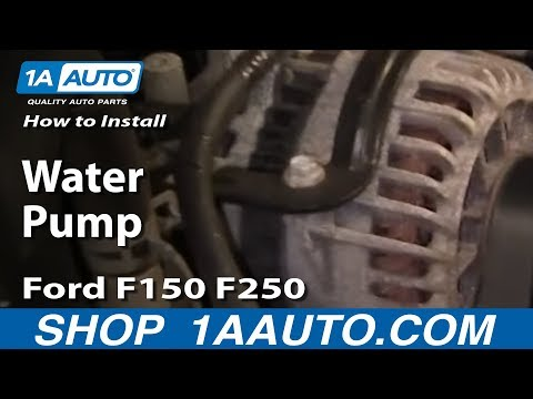 How to Install Replace Water Pump Ford F150 F250 Excursion 5.4 liter V8 97-04 1AAuto.com