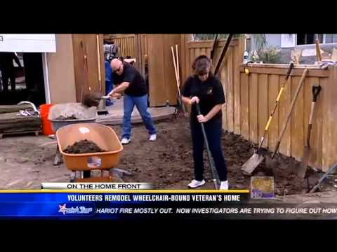 Volunteers remodel wheelchair bound veteran's home   San Diego, California News Station   KFMB Chann