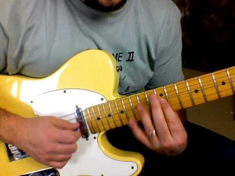 Rock And Blues Electric Guitar Solo Lesson - Blues Licks - Fender Telecaster