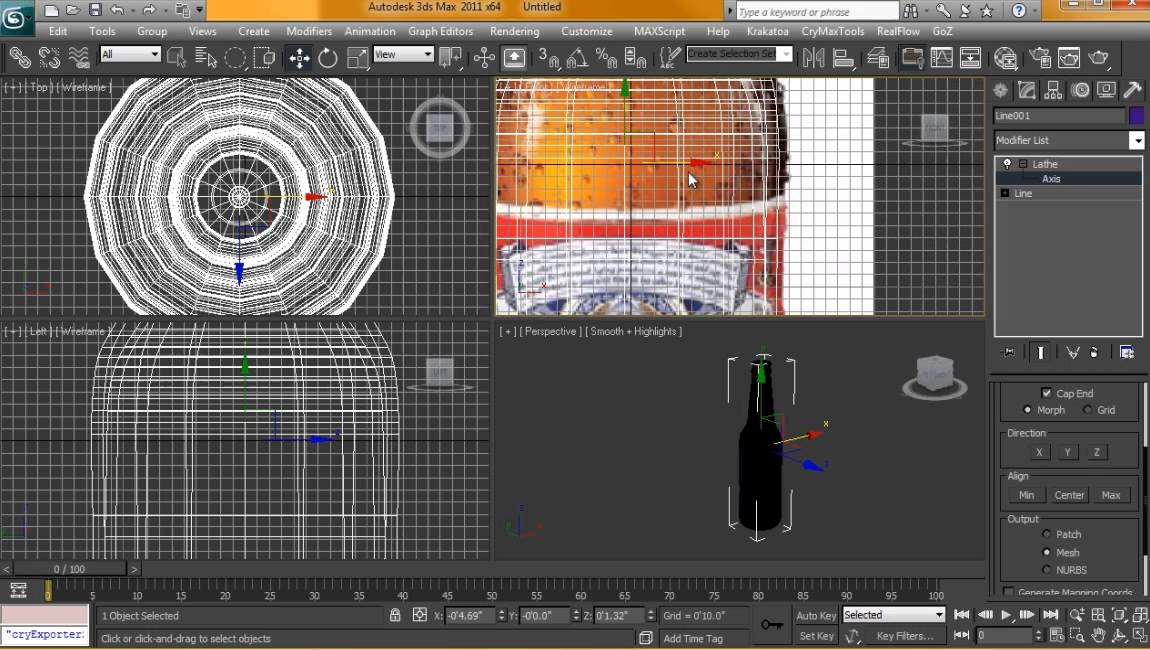 3ds Max Bottle Bottle in 3d Studio Max