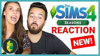 REACTION - The Sims 4 Seasons: Holidays Gameplay Trailer