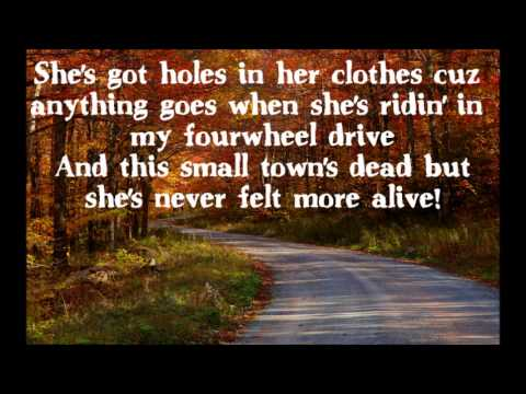 Florida Georgia Line Backwoods Beauty Queen Lyrics On Screen