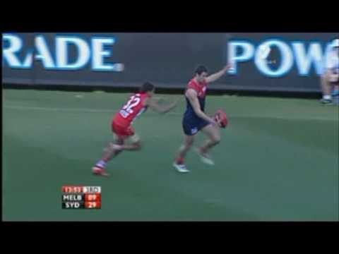Exclusive footage of Bruce McAvaney and Dennis Commetti commentating during the Round 17 2010 AFL clash between the Melbourne Demons and the Sydney Swans. Br...