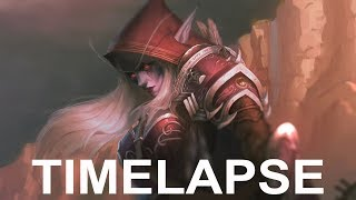 Sylvanas Windrunner - Time Lapse of Painting Process