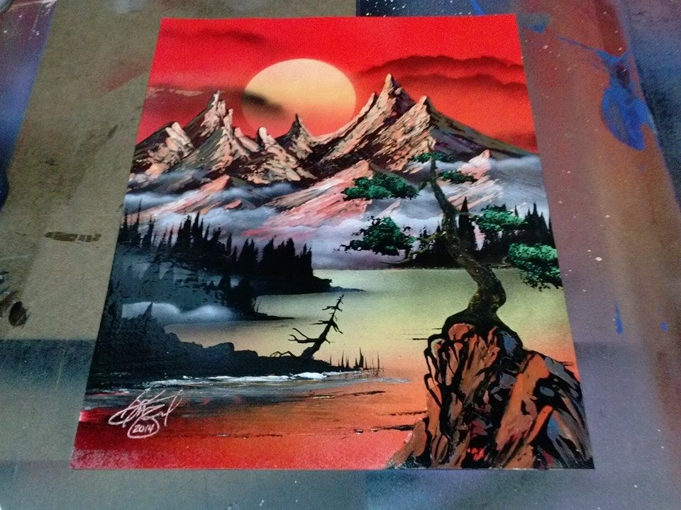 Paintings of Sunsets Mountains Sunset Mountain
