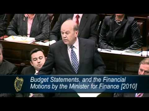 Michael Noonan Budget Speech