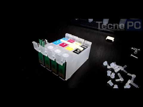 Instalación de sistema de tinta en impresora EPSON