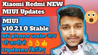 Redmi phone 🆕 MIUI updates..v10.2.1.0 Stable