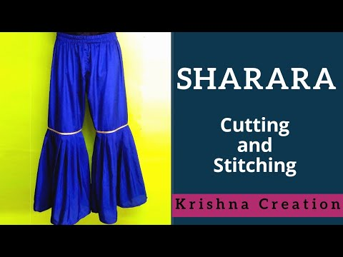 How to Make Sharara || Cutting and Stitching By Krishna Creation
