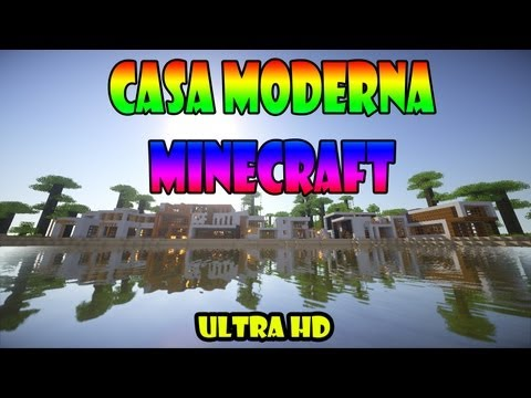 Minecraft casa moderna gigante descarga download how for Casa moderna gigante minecraft