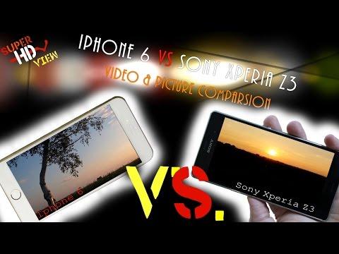 Iphone 6 vs Sony Xperia Z3 Camera Comparsion 4K / UHD  [Super HD View]