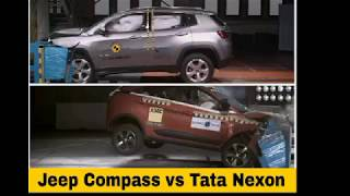 Tata nexon vs Jeep Compass crash test which is safe car. 5star vs 5 star.
