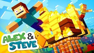 🔥 HOUSE FIRE | The Minecraft Life of Alex & Steve | Minecraft Animation