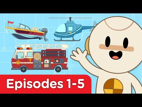 Finley's Factory | Car, Bus, Helicopter, Firetruck, Motorboat | Full Episodes 1- 5