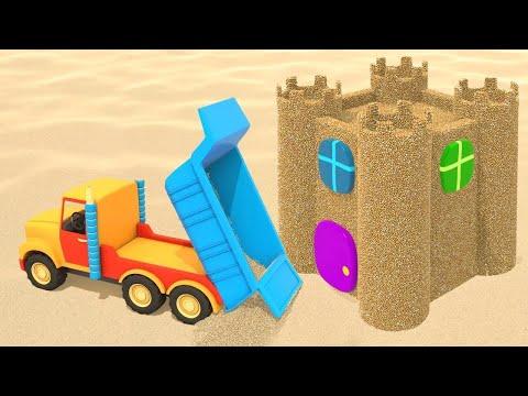 Dessin animé éducatif. Jeux de sable: Château de sable